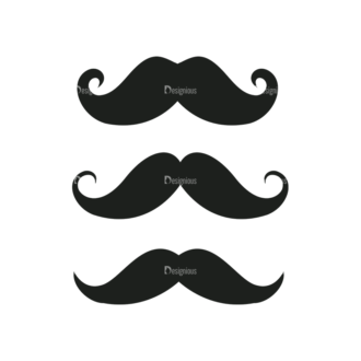 Hipster Vector Set 1 Vector Mustache 28 Clip Art - SVG & PNG vector