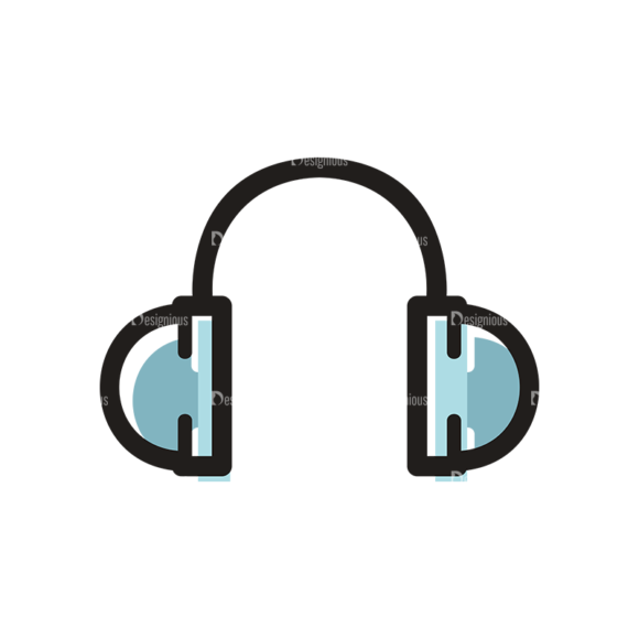 Hobbies Icons Vector Set 1 Vector Headphone 5