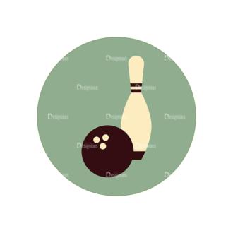 Hobbies Icons Vector Set 2 Vector Bowling Clip Art - SVG & PNG vector