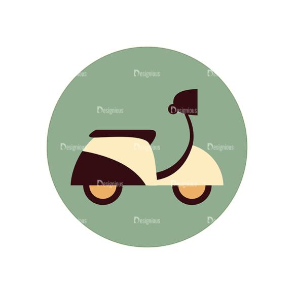 Hobbies Icons Vector Set 2 Vector Scooter 5