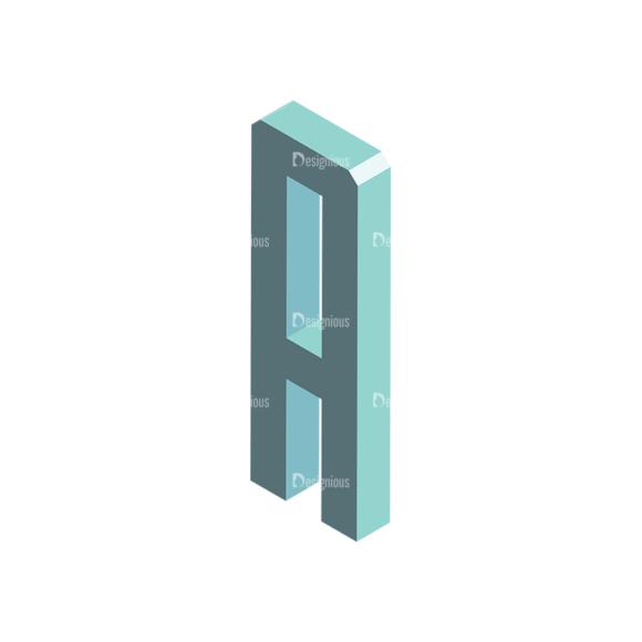 Isometric Alphabet Vector A isometric alphabet vector A