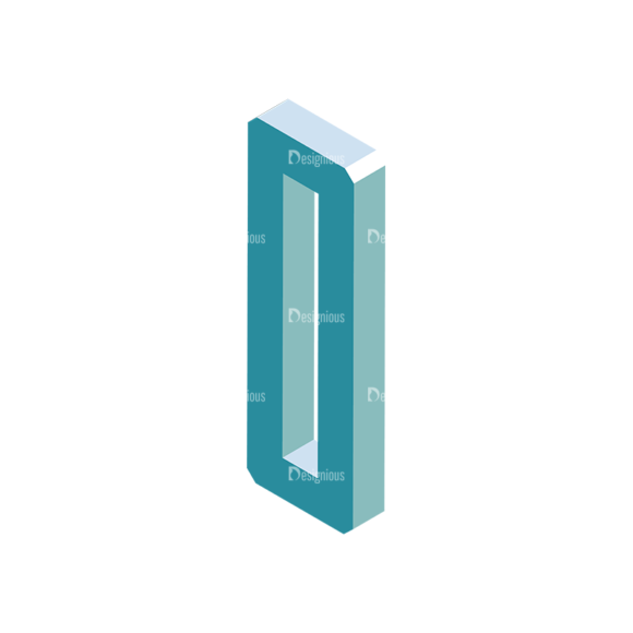 Isometric Alphabet Vector O Clip Art - SVG & PNG vector