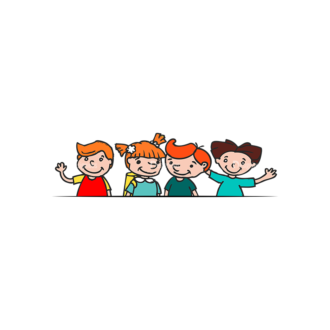 Kids School Vector Set 1 Vector Kids 01 Clip Art - SVG & PNG vector