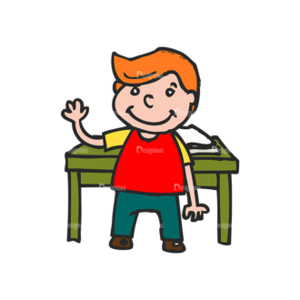 Kids School Vector Set 1 Vector Kids 08 Clip Art - SVG & PNG vector