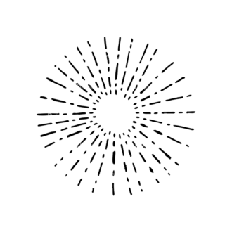 Light Burst Rays Set 24 Rays 04 Clip Art - SVG & PNG vector