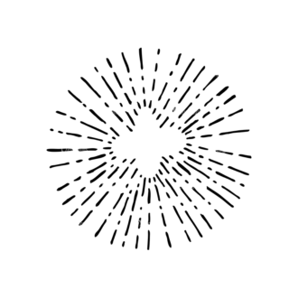 Light Burst Rays Set 24 Rays 05 Clip Art - SVG & PNG vector