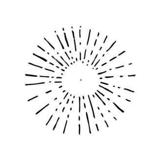 Light Burst Rays Set 24 Rays 06 Clip Art - SVG & PNG vector