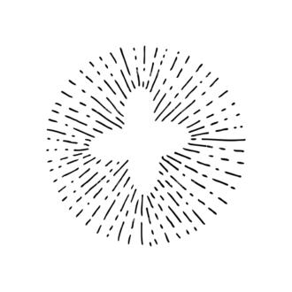 Light Burst Rays Set 24 Rays 07 Clip Art - SVG & PNG vector