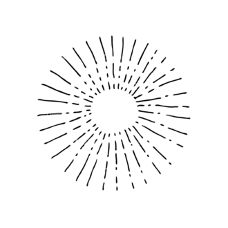 Light Burst Rays Set 24 Rays 08 Clip Art - SVG & PNG vector