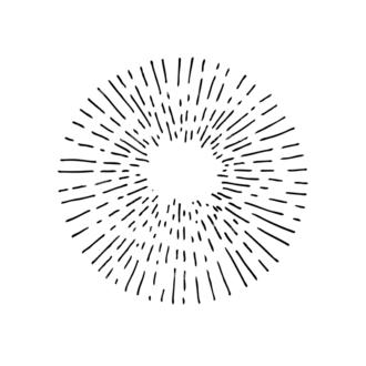 Light Burst Rays Set 24 Rays 09 Clip Art - SVG & PNG vector