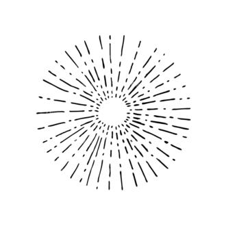 Light Burst Rays Set 24 Rays 10 Clip Art - SVG & PNG vector