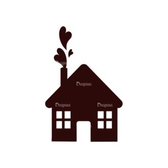 Love Vector Elements Set 1 Vector House Clip Art - SVG & PNG vector
