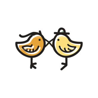 Love Vector Set 21 Vector Birds Clip Art - SVG & PNG vector