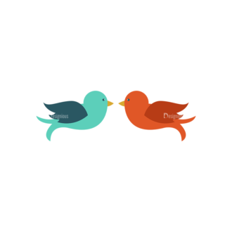 Love Vector Set 6 Vector Birds 52 Clip Art - SVG & PNG vector