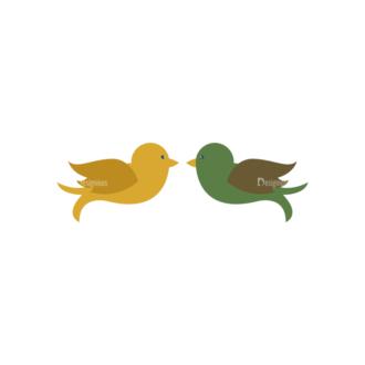 Love Vector Set 6 Vector Birds 53 Clip Art - SVG & PNG vector