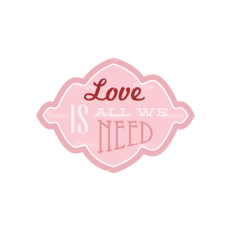 Love Vector Set 7 Vector 1 Frame 06 Clip Art - SVG & PNG vector