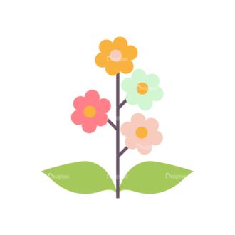 Love Vector Set 7 Vector Flowers Clip Art - SVG & PNG vector