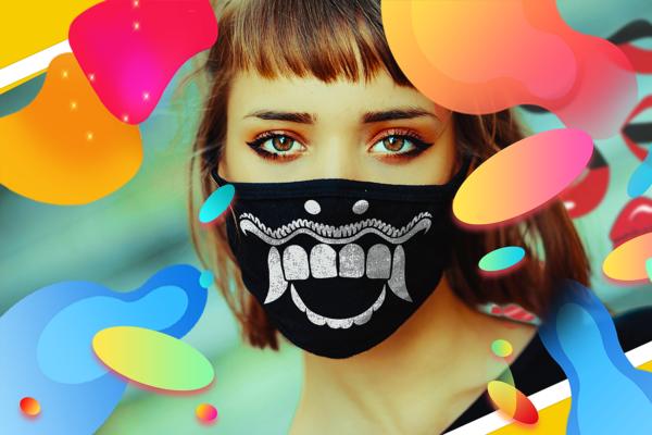 18 Face Masks Vector Pack 1