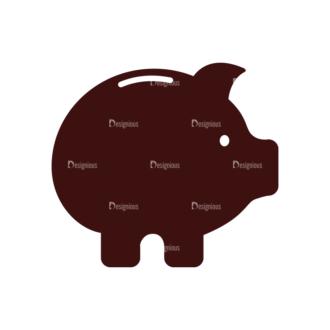 Money Vector Elements Set 1 Vector Piggy Bank Clip Art - SVG & PNG vector