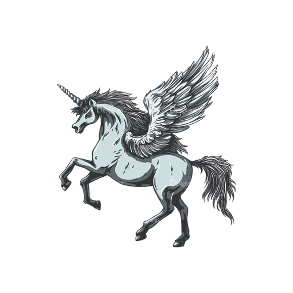 Mythical Creatures Vector 8 5 Clip Art - SVG & PNG vector