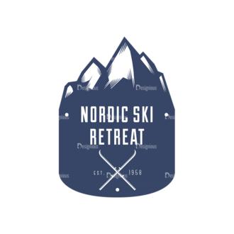 Nordic Skiing Elements Vector Set 3 Vector Logo 03 Clip Art - SVG & PNG vector