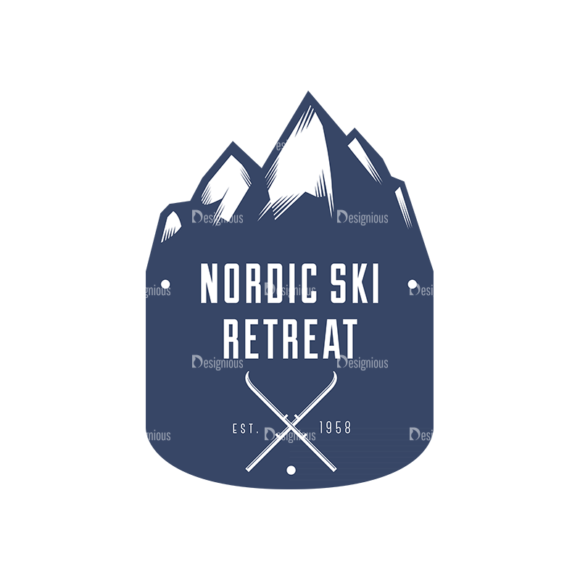Nordic Skiing Elements Vector Set 3 Vector Logo 03 nordic skiing elements vector set 3 vector logo 03