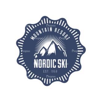 Nordic Skiing Elements Vector Set 3 Vector Logo 05 Clip Art - SVG & PNG vector