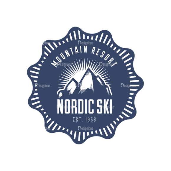 Nordic Skiing Elements Vector Set 3 Vector Logo 05 nordic skiing elements vector set 3 vector logo 05