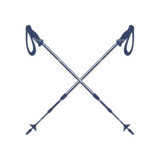 Nordic Skiing Elements Vector Set 3 Vector Logo 06 Clip Art - SVG & PNG vector