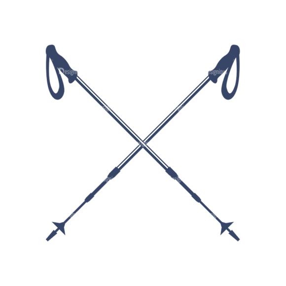Nordic Skiing Elements Vector Set 3 Vector Logo 06 5