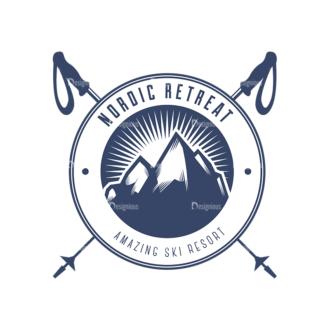 Nordic Skiing Elements Vector Set 3 Vector Logo 08 Clip Art - SVG & PNG vector