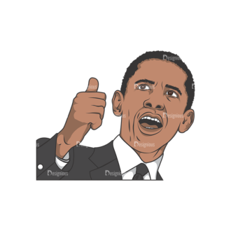 Obama Pack 6 Preview Clip Art - SVG & PNG vector