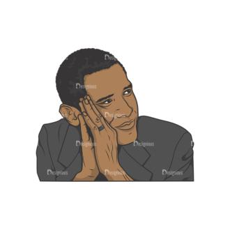 Obama Pack 7 Preview Clip Art - SVG & PNG vector