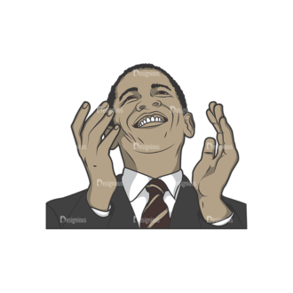 Obama Pack 8 Preview Clip Art - SVG & PNG vector