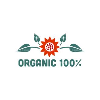 Organic Labels Set 4 Vector Logo 06 Clip Art - SVG & PNG vector