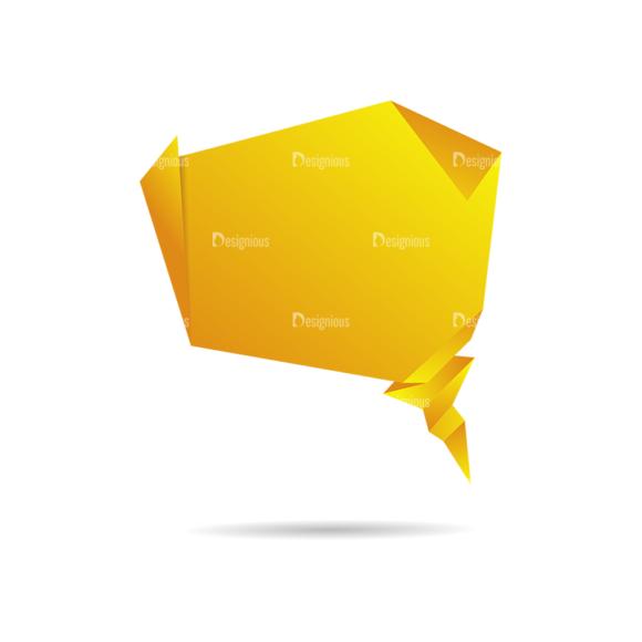 Origami Chat Bubbles Vector Alphabet 03 Clip Art - SVG & PNG vector