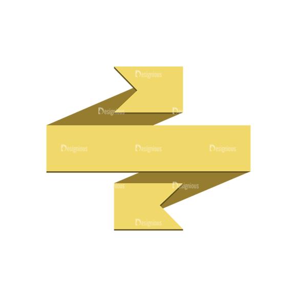 Origami Vector Ribbons Vector Ribbon 08 Clip Art - SVG & PNG vector