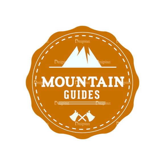 Outdoor Adventure Badges Vector Set 1 Vector Badges 03 Clip Art - SVG & PNG vector