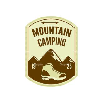 Outdoor Adventure Badges Vector Set 1 Vector Badges 05 Clip Art - SVG & PNG vector