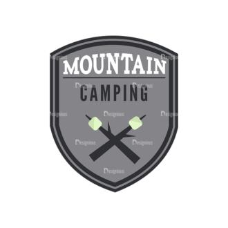 Outdoor Adventure Badges Vector Set 1 Vector Badges 08 Clip Art - SVG & PNG vector