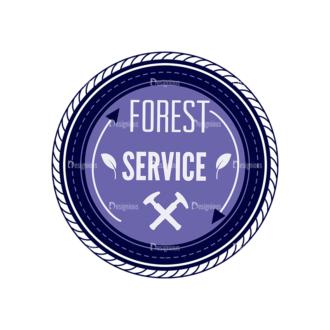 Outdoor Adventure Badges Vector Set 1 Vector Badges 09 Clip Art - SVG & PNG vector