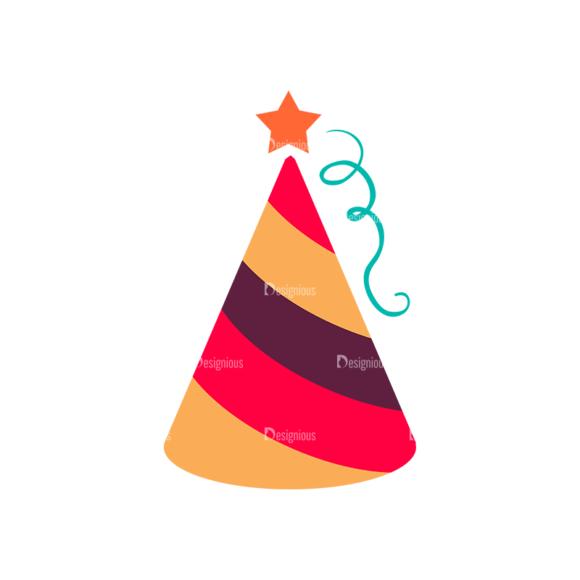 Party Birthday Vector Set 1 Vector Cap 03 Clip Art - SVG & PNG vector