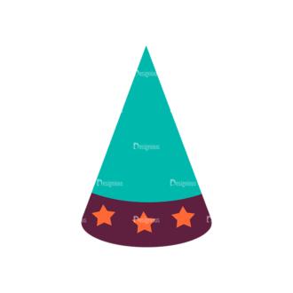 Party Birthday Vector Set 1 Vector Cap 05 Clip Art - SVG & PNG vector