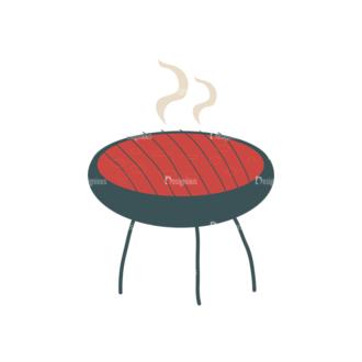 Party Grill Vector Set 1 Vector Grill Clip Art - SVG & PNG vector