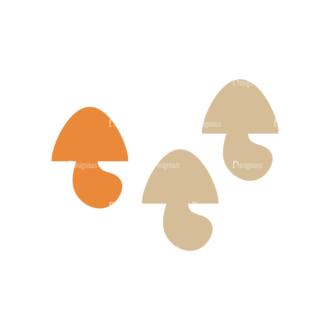 Party Grill Vector Set 1 Vector Mushroom Clip Art - SVG & PNG vector