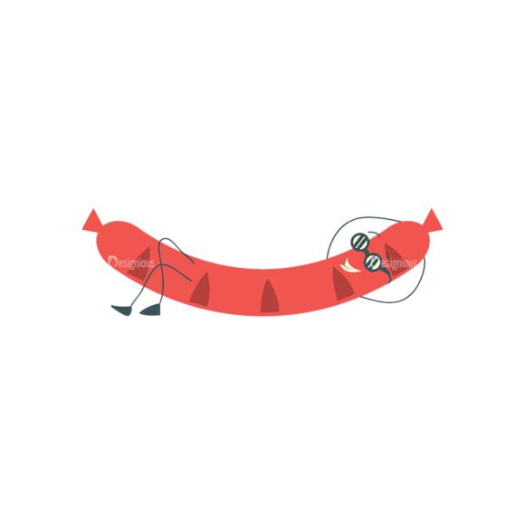 Party Grill Vector Set 1 Vector Susage Clip Art - SVG & PNG vector