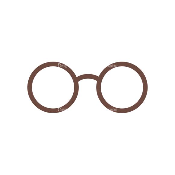 Party Retro Elements Vector Set 1 Vector Eyeglass Clip Art - SVG & PNG vector