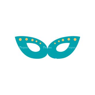 Party Retro Elements Vector Set 1 Vector Mask 03 Clip Art - SVG & PNG vector
