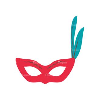 Party Retro Elements Vector Set 1 Vector Mask 05 Clip Art - SVG & PNG vector
