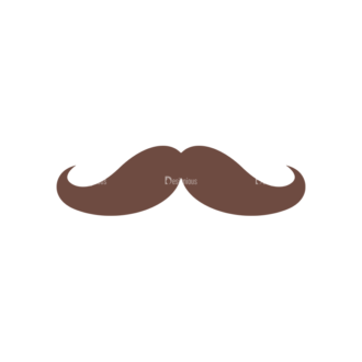 Party Retro Elements Vector Set 1 Vector Mustache Clip Art - SVG & PNG vector